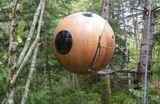 Suspended Spherical Hotels - The Spherical Tree House Hotel is Suspended 15 Feet in the Air