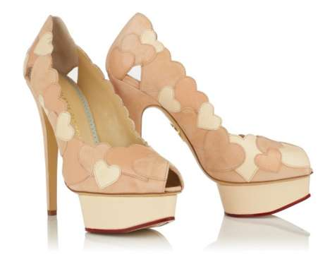 Romantic Heartful Pumps - The Love Me Shoes by Charlotte Olympia are Perfect for a Bride