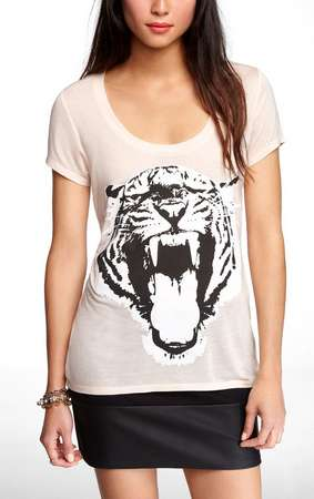 Make a Statement with This Bohemian Siberian Tiger Tee