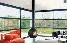 Modern Orb Fireplaces - The Focus Bathyscafocus Updates the Traditional Hearth is a Simple Way