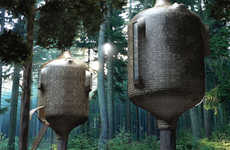 Organic Treehouse Pods - Antony Gibbon Designs' Embryo Treehouse is a Tree House Home for Adults