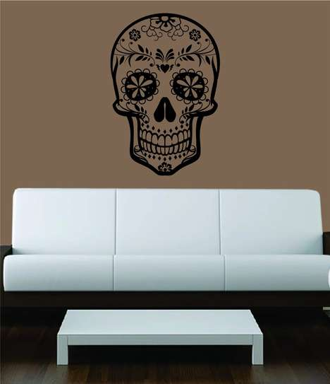 Spooky Skull Wall Decals