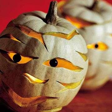 Mummified Pumpkin Carvings