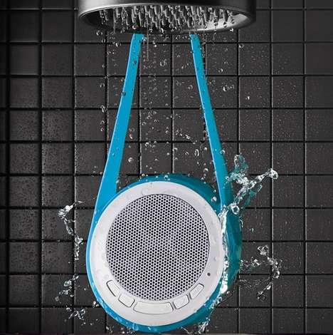Water-Resistant Shower Speakers