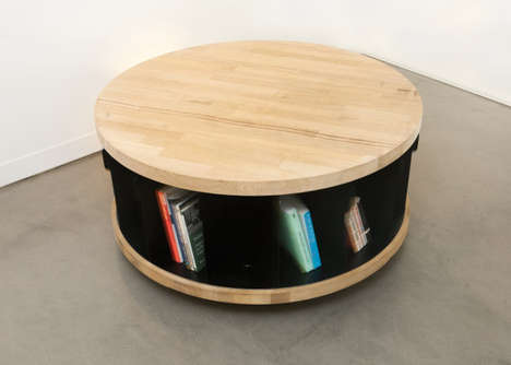 Round Rotating Bookshelves