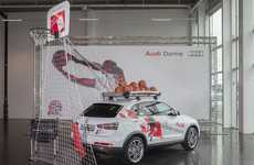 Luxury SUV Ball Courts - The Audi Mobile Basketball Hoop Lets You Ball on the Go