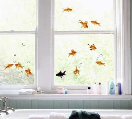 Embrace Your Inner Mermaid or Merman with These Fish Window Decals
