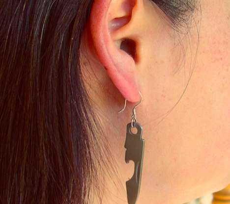 The Bottle Opener Earrings are Essential at a Party