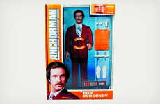 News Anchor-Modeled Figurines - The Ron Burgundy Action Figure is a Must-Have for Anchorman Fans