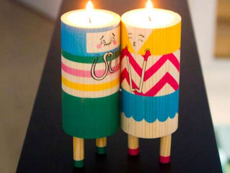 Add a Romantic Tone to Your Home with the Kissing Candles