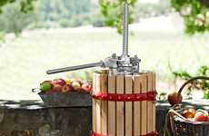 At-Home Cider Presses - Make Your Own Homemade Beverages with this Cider & Wine Press