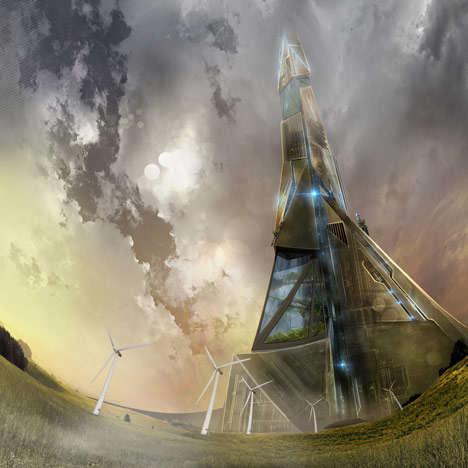 Rocket-Launching Skyscrapers