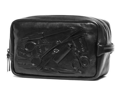 Whimsically Outlined Makeup Bags