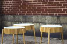 Minimalist Tapered Tables - The Barrel Series by Domenic Fiorello is Rounded and Hollow