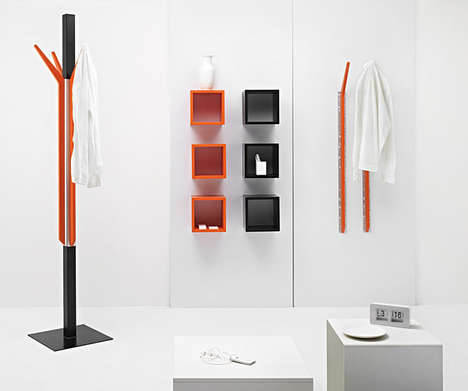 The Magnetic Furniture Set Includes Free-Standing Designs