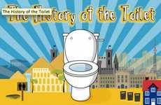 Toilet History Infographics - The Toilet History Infographic Details the History of This Life Staple