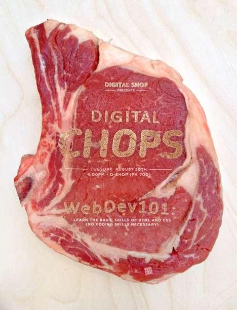 Meat-Printed Advertisements