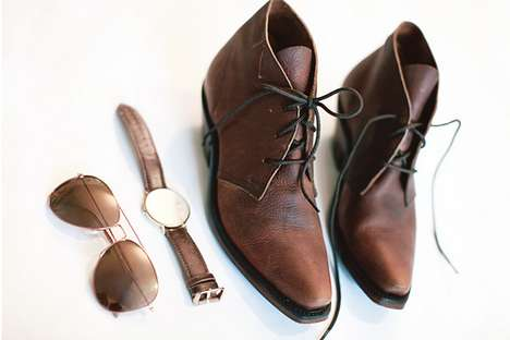 Rugged Leather Lace-Ups