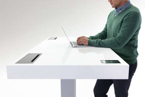 Strategically-Adjusting Standing Desks - The Stir Kinetic Desk Monitors People's Working Habits