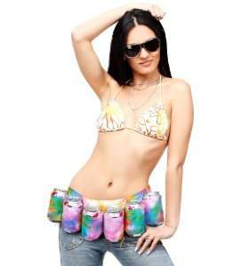 Peace-Loving Beer Holsters - The Tie-Dye 6-Pack Beer Holster is a Free-Spirited Alcohol Belt
