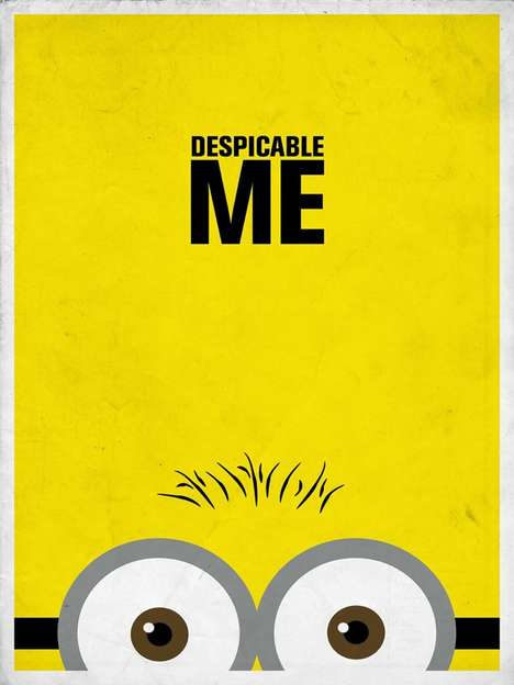 Minimalist Disney Posters - These Clean-Cut Disney Posters are Effective Despite Their Simplicity