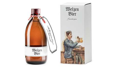 Alcoholic Shampoo Branding - Weizen Bier Wheat Shampoo Packaging is Dressed Like Your Favorite Drink