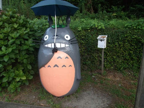 These Japanese Bus Stops Were Designed After the One in Totoro
