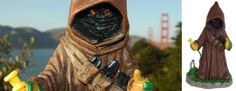 Iconic Galactic Garden Decor - These Star Wars Jawa Garden Gnomes are Perfect for Die-Hard Fans