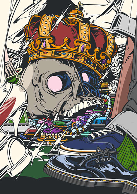 Grisly Anime-Style Illustrations