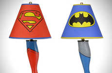 Superhero Leg Lamps - These Batman and Superman Comic Book Toy Models are Classic