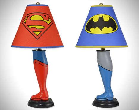 Superhero Leg Lamps