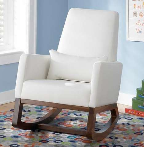 Comfy Elegant Rocking Chairs - This Chair is Perfect for Mothers and Their Bundles of Joy