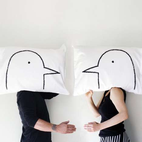 Affectionately Romantic Pillow Cases - These His and Her Pillows are a Romantic Way to Decorate