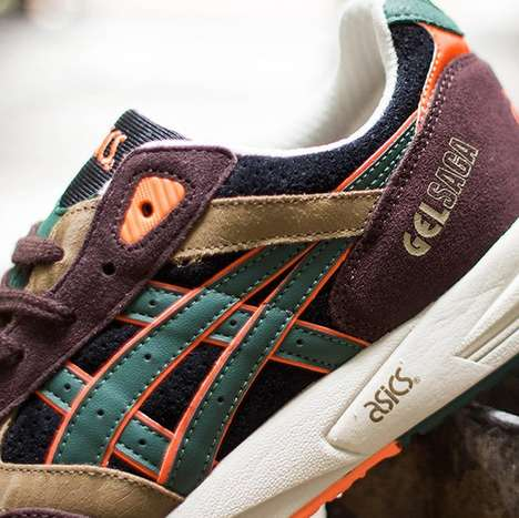 Retro Revival Runners - These Asics Sneakers are Adorned with Color-Blocked Motifs
