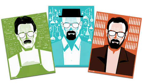 Graphic TV Character Illustrations - These Walter White Posters Help You Say GoodBye to Breaking Bad