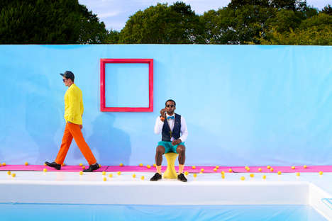 Vibrant Backdrops Spice Up the 'Fresh Lemonade' Fashion Shoot