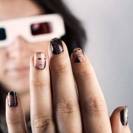 Eye-Popping 3D Nails - The Nail Art Wrap Set Comes with 3D Glasses for Your 3D Nails