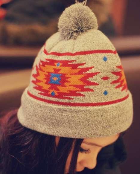 Native-Patterned Winter Hats