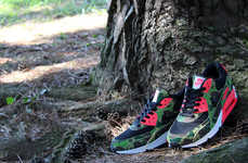 Hunter-Friendly Camo Kicks - The Air Max 90 Premium Duck Infra Camo shoes are Edgy And Wild