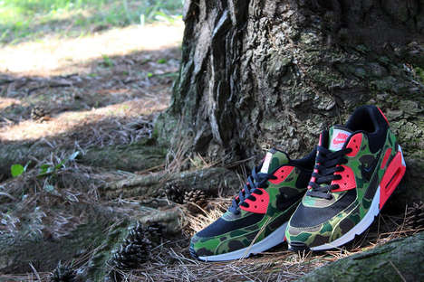 The Air Max 90 Premium Duck Infra Camo shoes are Edgy And Wild