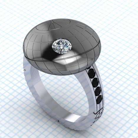 Space Station-Inspired Jewelry - Death Star Engagement Ring is a Tribute to 'Stars Wars'