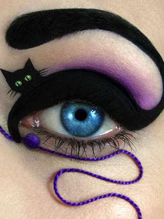 Literal Cat Eye Makeup