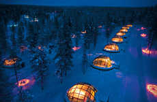 Glass Igloo Hotel Parks - Hotel Kakslauttanen Offers 20 Thermal Igloos in Finland's National Park