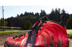 Firey Red Camo Kicks - The Nike Air Foamposite 'Doernbecher' is a Charity Sneaker