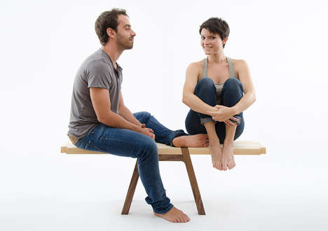 Silly Seesaw Seating - The Twin Bench Brings Playfulness to the Practicality of Home Furnishings