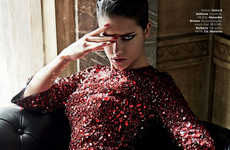 Wild Femme Fatale Editorials - Adriana Lima Plays the Bad Girl for Giampaolo Sgura in This Spread