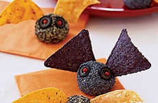 Crunchy Bat Cheese Balls - This Halloween Cheese Recipe Makes an Assortment of Edible Bats