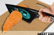 Ingredient-Examining Blades - The Smart Knife Analyzes and Calculates the Freshness of Your Food
