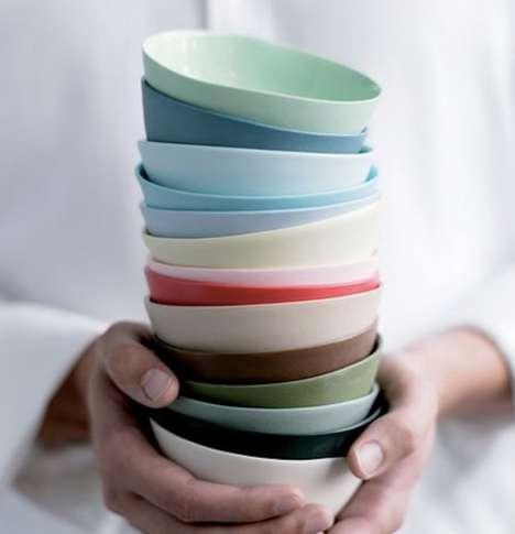 Flared Porcelain Bowls
