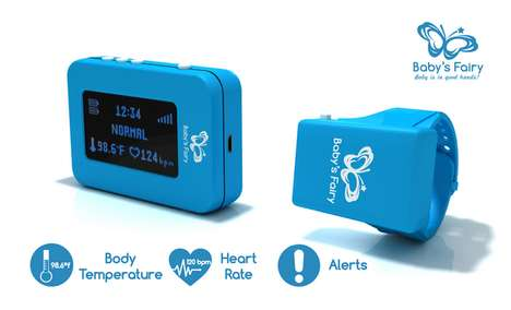 Infant Health-Monitoring Wristbands - The Baby's Fairy Monitors Body Temperature and Vital Signs